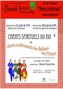 Concert «L'usage du monde»  Par le Chœur Rencontres-Dimanche 11 Juin - 17h00 - Eglise de Cortevaix