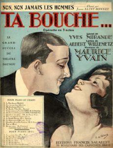 Opérette – Samedi 19 Août – 20h30 « Ta Bouche »