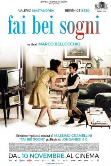 Festival de cinéma italien - Mardi 10 Octobre – 20h30 – Fai bei sogni @ Maison du Terroir, salle Lagrange
