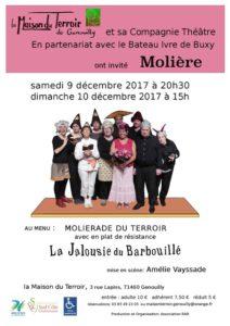 Théâtre- Samedi 9 Décembre - 20h30 - Cie Théâtre de la Maison du Terroir - La Jalousie du Barbouillé de Molière