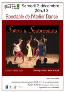"""Spectacle de l'Atelier Danse - Samedi 2 Décembre - 20h30 - """"Suites & Soubresauts"""""""
