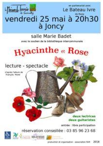 """Lecture en musique """" Hyacinthe et Rose"""" Vendredi 25 Mai à 20h30 - Biliothèque de Joncy"""