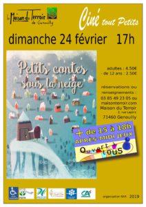 Ciné Tout Petit - Dimanche 24 Février - 17h00 -«Petits contes sous laneige »
