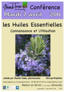 Conférence sur les Huiles Essentielles par Chantal Euzen  - Mardi 2 Avril - 20h00