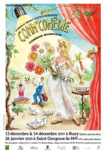 """Spectacle -"""" Comm'Comédie"""" - Vendredi 13 Décembre- 20h30 - Buxy -Salle des Fêtes"""