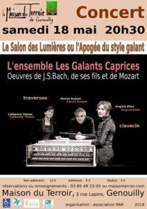 Samedi 18 Mai - 20h30 - Concert «Galants Caprices»