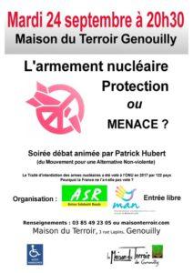 Soirée débat: L'armement nucléaire, protection ou menace ? Mardi 24 Septembre - 20h30