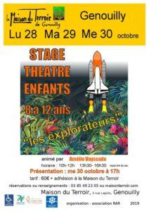 Stage théâtre enfants du 28 au 30 Octobre