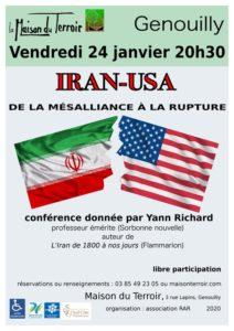 Conférence sur L'Iran - Vendredi 24 Janvier - 20h30