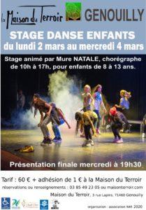 Stage Danse Enfants- 2, 3 et 4 Mars