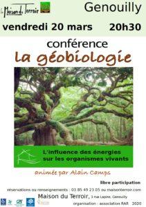 Conférence La Géobiologie - Vendredi 20 Mars - 20h30