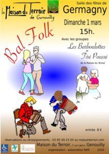 Bal Folk- Dimanche 1 Mars 15h00 -GERMAGNY