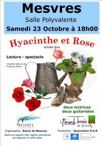 """Représentation de """"Hyacinthe et Rose """" à Mesvres le 23 Octobre -18h00"""