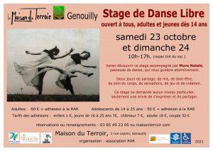 Stage Danse libre Adultes - Samedi 23 et Dimanche 24 Octobre -10h00 à 17h00